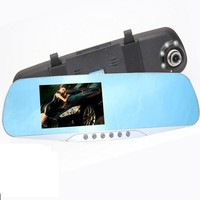 HD 1080P Car Dvr Detector Camera Blue Review Mirror DVR Digital Video Recorder Auto Camcorder Dash Cam