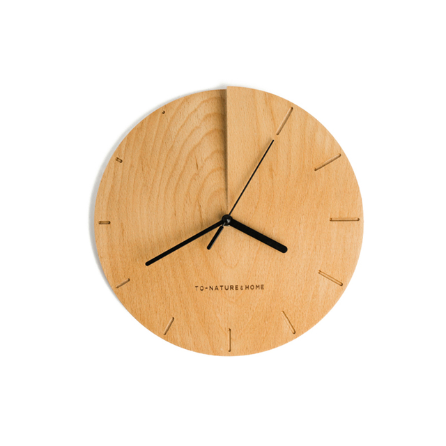 Wooden Silent Wall Clock Art Creative Simple Wall Watch Painting ...