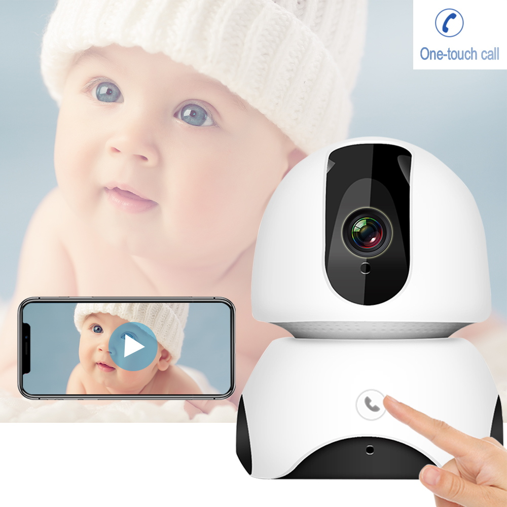Wireless Baby Monitor 2MP FHD Baby Sleep Monitor Nanny IP Camera Auto Tracking One-touch Call Two Way Audio Intercom Baby Phone image