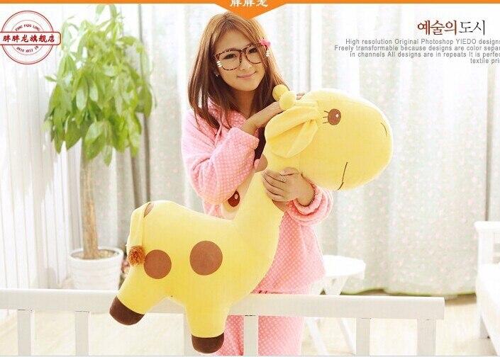 huge 85cm giraffe plush toy cartoon giraffe doll hugging pillow ,Christmas gift b5865 huge 120 cm turtle plush toy big head tortoise doll throw pillow christmas gift w1903