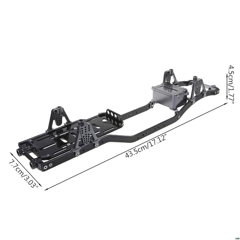 Carbon Fiber Metal Chassis Frame Girder RC Cars Frame for 1:10 Axial SCX10 D90 Rock Crawler Parts
