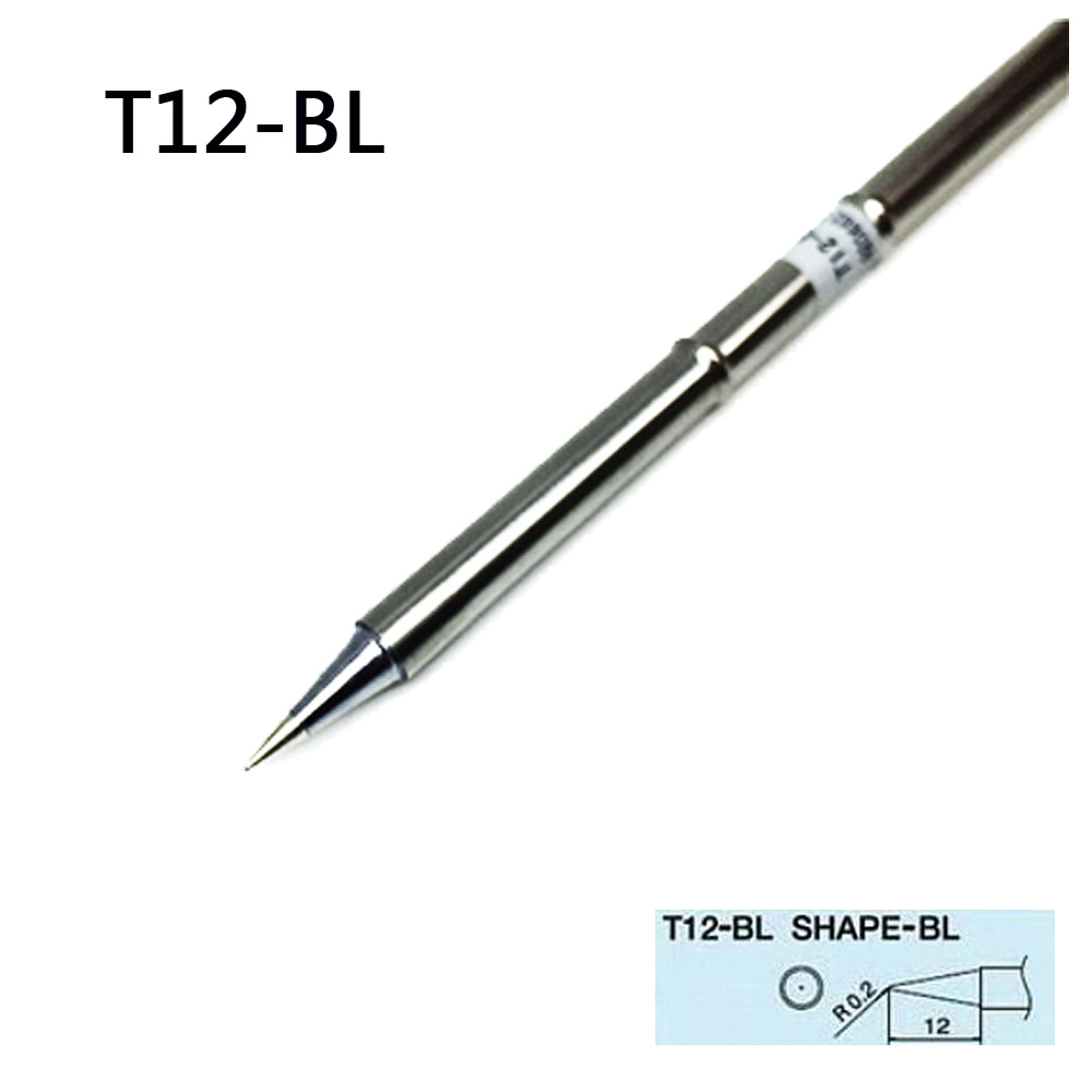 2pcs T12-BL Solder Iron Tips High Quality T12 BL Lead-Free Soldering Iron Tip For HAKKO Soldering Rework Station FX-951/FX-952