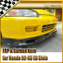 Car-styling For Honda 1992-1995 EG Civic Spoon Style Carbon Fiber Front Lip