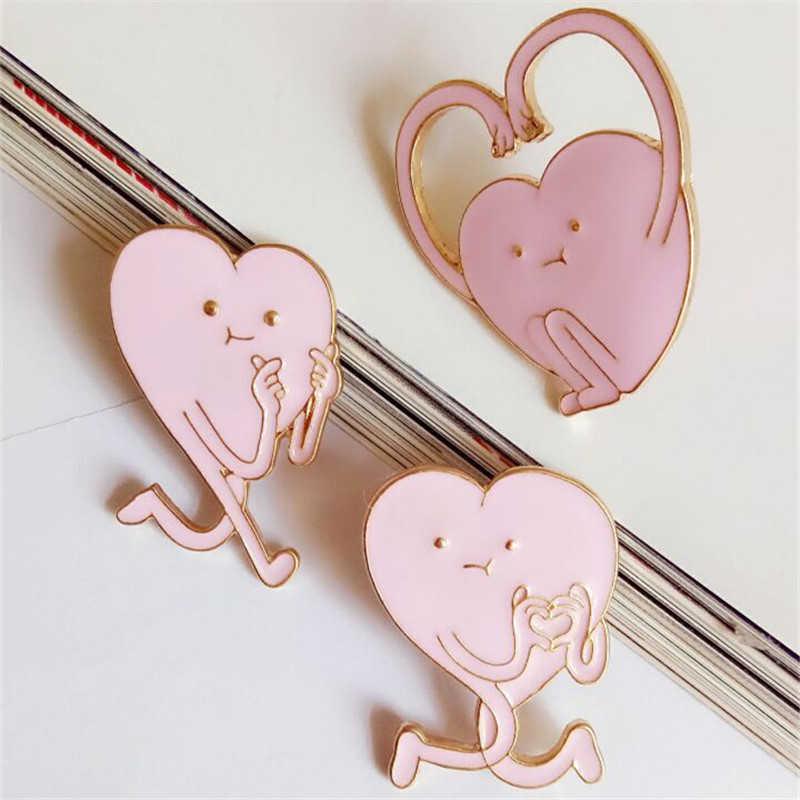 free shipping fashion women New Jewelry wholesale Love brooch jewelry men and women accessories