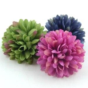Image 5 - 5PCS 7Cmเบญจมาศประดิษฐ์ดอกไม้ผ้าไหมสำหรับงานแต่งงานหน้าแรกตกแต่งScrapbooking DIYไฮเดรนเยียดอกไม้