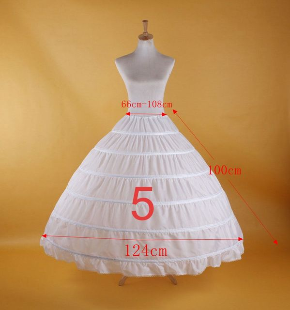 2019 New Hot Sell Bridal Wedding Petticoat Hoop Crinoline Prom Underskirt Fancy Skirt Slip 2