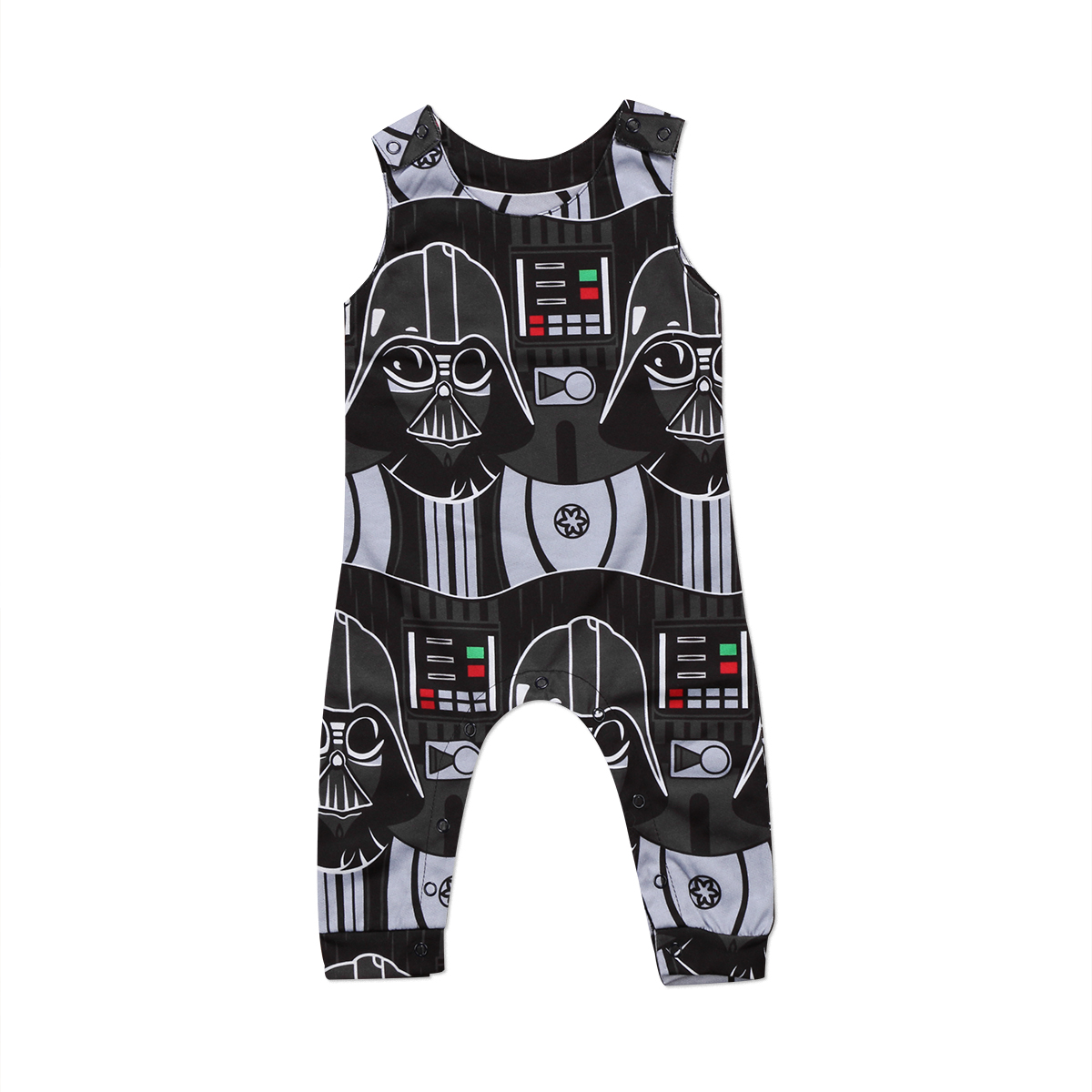 Pudcoco 2017 Cute Toddler Kids Baby Boys Star Wars Romper Sleeveles Jumpsuit Personality Clothes Outfits Novelty 0-3Y star wars boys black