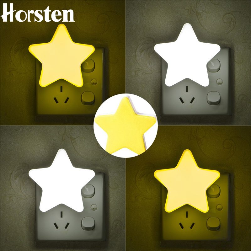 LED Star Night Light EU/US Plug Smart Light Sensor Wall Night Lamp For Baby Room Kids Bedroom Home Deco Energy Saving 110-220V