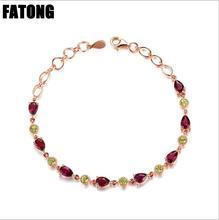 лучшая цена 925 sterling silver jewelry natural garnet, topaz, peridot, citrine bracelet jewelry female  J0198