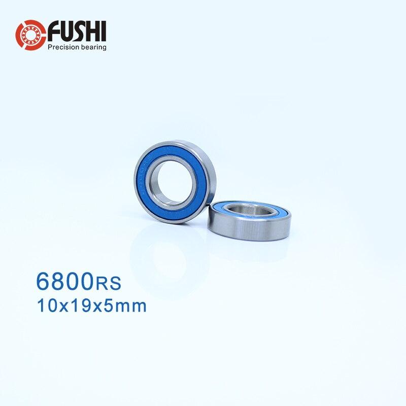 6800-2RS 10x19x5 mm Chrome Rubber Ball Bearing Bearings BLACK 6800RS 10 PCS