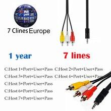 цена на cccam cline for 1 year europe Spain Germany Italy Poland For DVB-S/ S2 lnb Satellite receiver v7 v8 super
