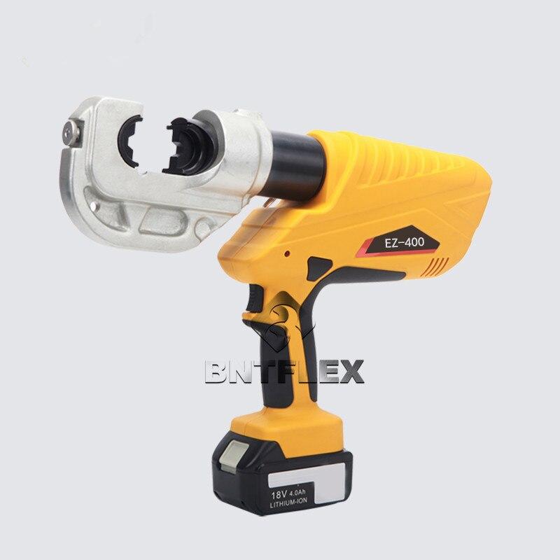 16-400mm2 18 V EZ-400 bateria recarregável cabo ferramenta de friso hidráulica alicate de friso de cobre e terminais de alumínio