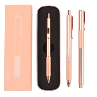 Bolígrafo de Lujo M & G de oro rosa  bolígrafo de lujo de Metal de 0 5mm  bolígrafos de tinta de Gel negro de lujo stylo bille con conjunto de caja|Bolígrafos de gel|   -