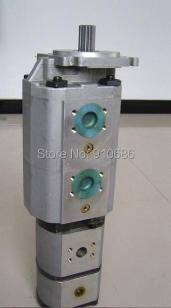 Quadruple Pump Hydraulic Gear Oil Pump CB-KpT 80/80/63/10 high pressure pump high pressure gear oil pump cbt e306 hl constant flow hydraulic pump