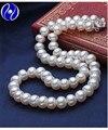 Elegantes collares de perlas longitud personalizada moda perlas de agua dulce de la perla natural collares aaa granos hechos a mano choker regalos, multi