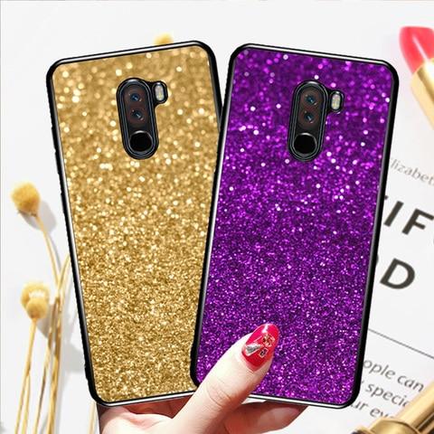 Case for Xiaomi Redmi 6A 5A 4A 4X Note 4 4x S2 cover case for xiaomi redmi 5 Plus Pocophone F1 Mi 8 Lite Glitter Phone cases Pakistan