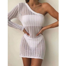 2019 New Summer Women Bikini Cover Up Lace Hollow Crochet Swimsuit Cover-Ups Bathing Suit Beachwear Tunic Beach Dress Hot недорого