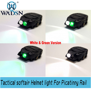 Image 3 - WADSN Princeton Tactical softair Helmet light For Picatinny Rail With Remote Switch Light Tail White Red IR Lights WNE05016