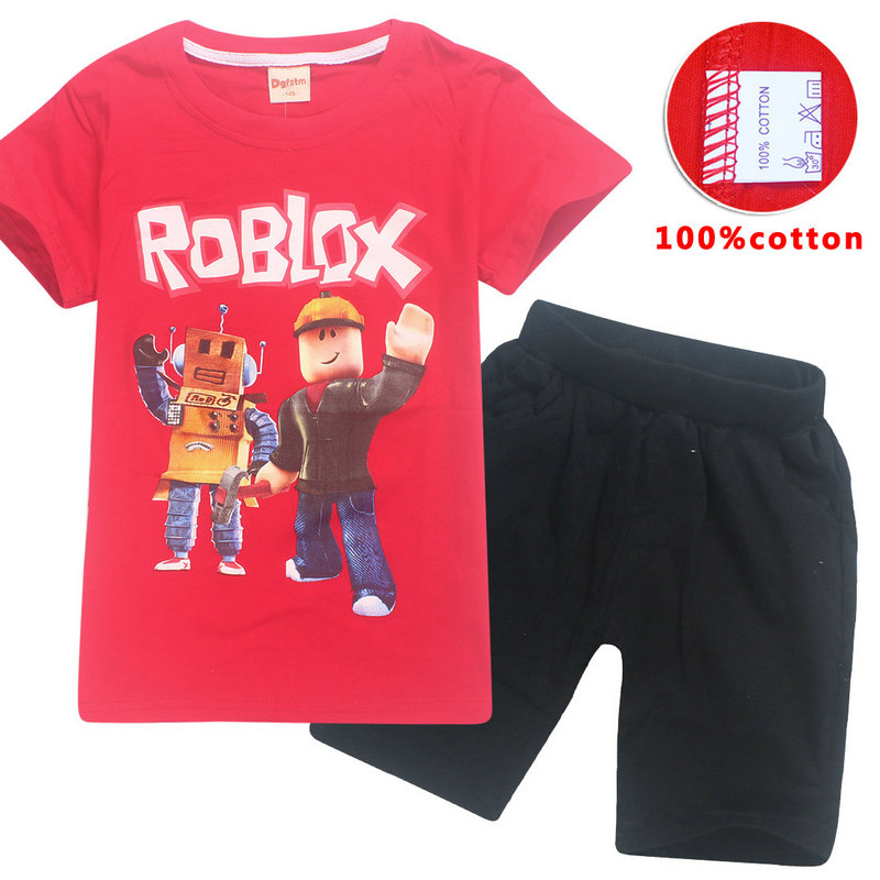 New Roblox Brand Summer Baby Tops Children S T Shirt Suit Clothes