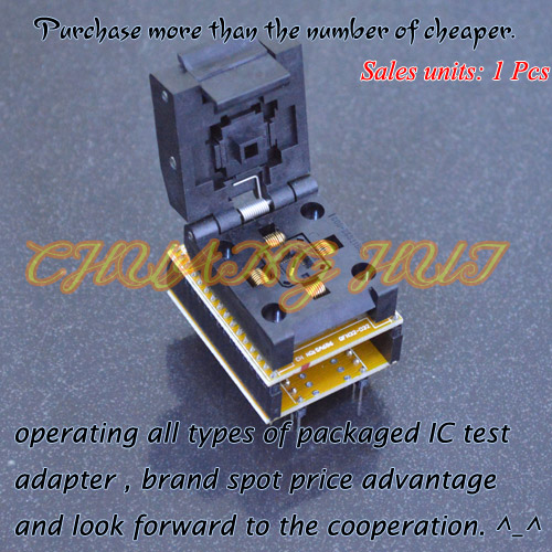 все цены на IC TEST QFN32 to DIP32 Programmer Adapter WSON32 DFN32 MLF32 Adapter test socket Pitch=0.5mm онлайн