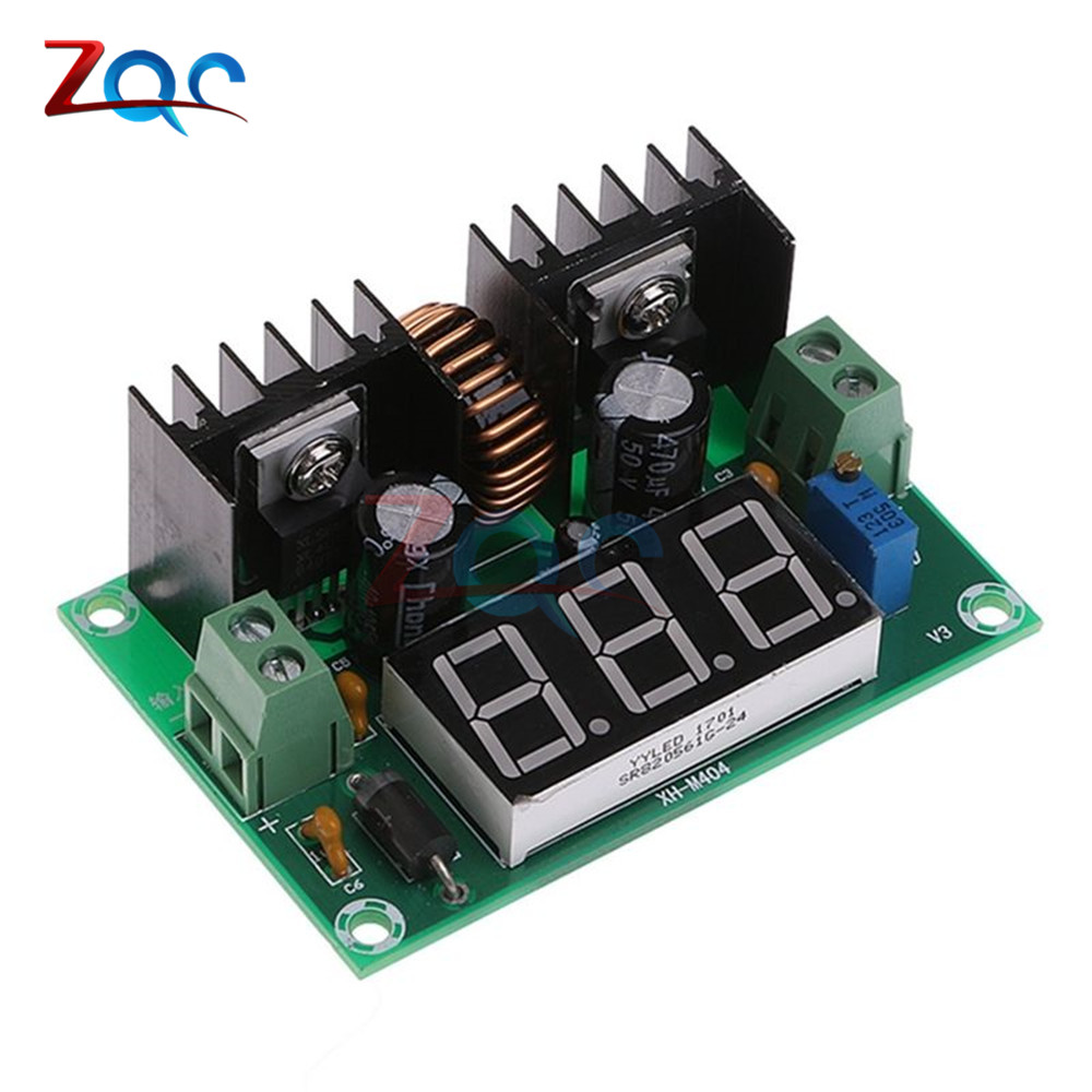 XL4016 LM317 LED Digital Voltmeter Voltage Regulator Meter XL4016E1 DC-DC Buck Step Down Module 200W 8A PWM 4-40V to 1.25-36V цена