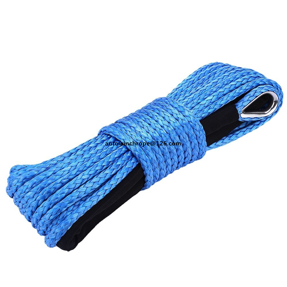 Blue 5mm*15m Synthetic Winch Rope,ATV Winch Line ,4X4 off-road Repalcement Winch Cable.Plasma Winch Cable