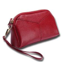 Genuine Leather Women Wallets High Quality Phone Storage Bag Card Holder Handbag Long Lady Wallet Coin Purse Clutch