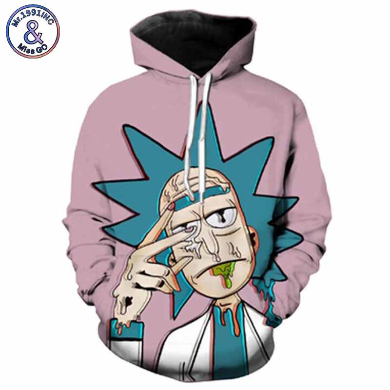 Mr.1991INC Newest Hot Animation cartoon Digital Print Sweatshirts Hooded Pullovers Men/women Sweatshirt Hoodie Hoodies S-5XL