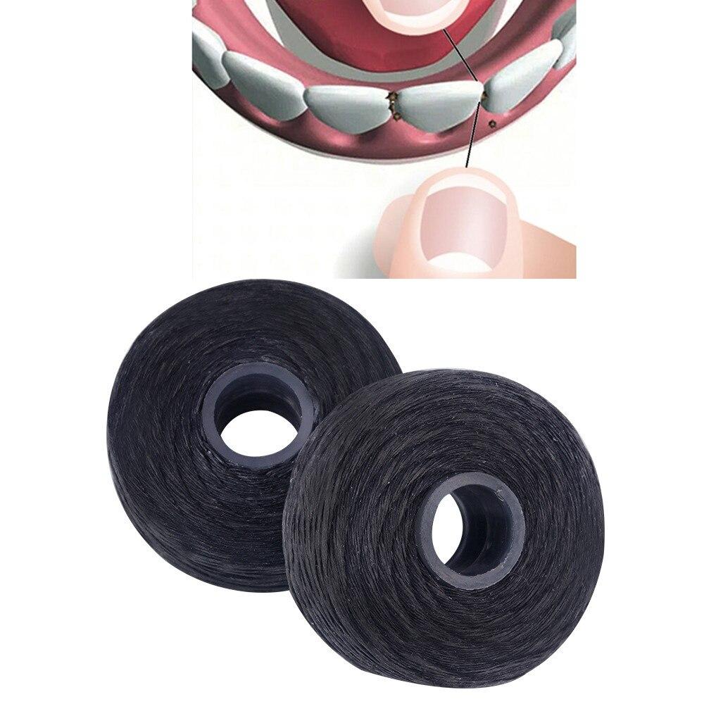 50 м* 12 шт бамбуковый древесный уголь зубная нить черный нейлон углеродистая Плоская проволочная нить для удаления бактериального налета и зубного камня в зубах