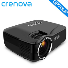 Crenova WIFI Bluetooth Android 4.4 Proyector con Google Play GP70UP 1G RAM 8G Apoyo ROM 1080 P TV Analógica Mini LED proyector