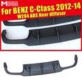 Подходит для Benz W204 задний диффузор для губ черный ABS материал без отверстия для губ C180 C200 C250 C300 C350 диффузор  губа на задний бампер 2012-2014