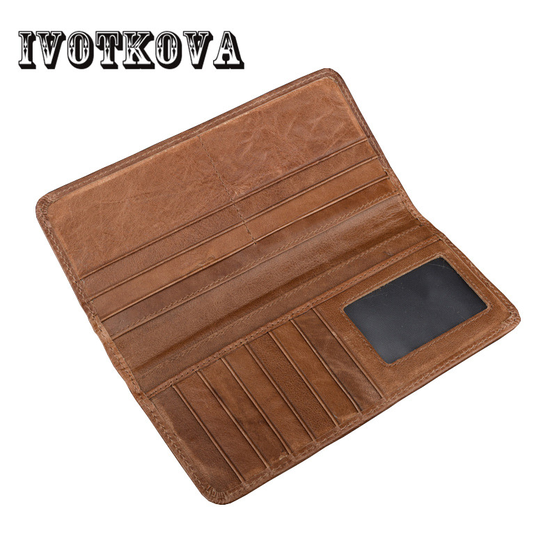 IVOTKOVA New Style Long Wallets Men Solid Wallet with Coin Phone Pocket Brand Designer Male Purse Credit Card Holder Bag new genuine leather men long wallets 2017 brand designer credit card holder purse high quality coin pocket zipper wallet for men