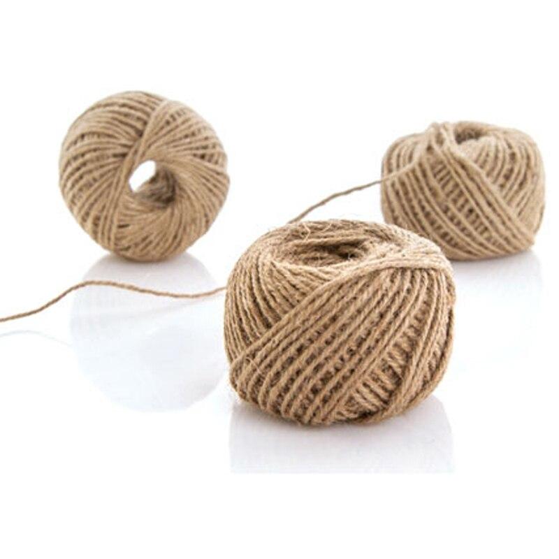 jute twine rope handmade hemp floral wedding gift tags wrap ribbon fiber jute craft decor linen ropein cords from home u garden with cuerda yute - Cuerda De Yute
