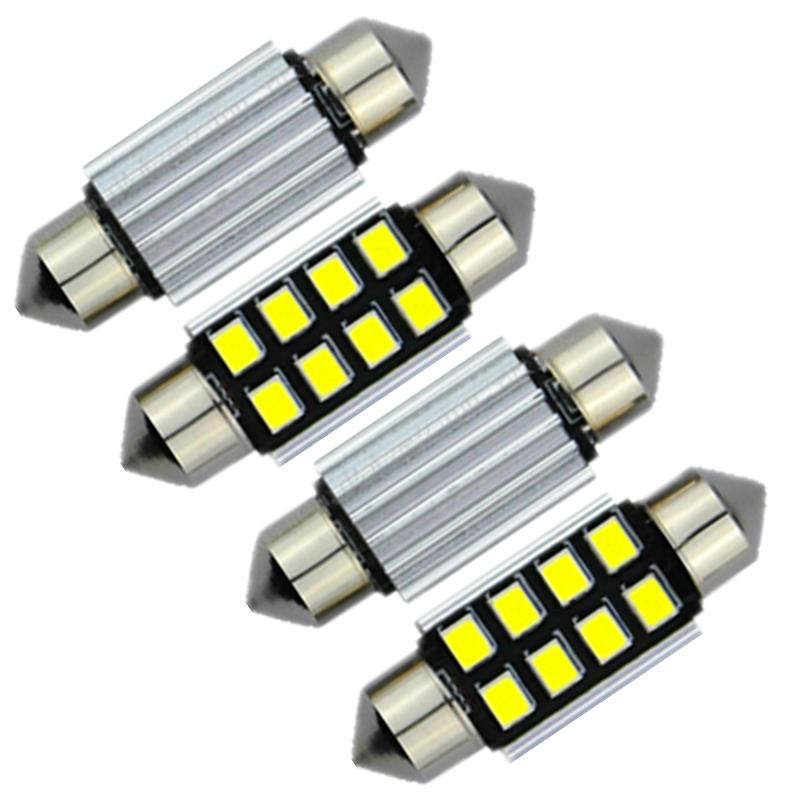 4pcs Canbus 42mm 41mm Led 2835smd Interior Dome Map Light Cargo Car Bulb For Dodge Ram 3500 2000 2001 2006 2007 2008 2009 2010 In Headlight Bulbs