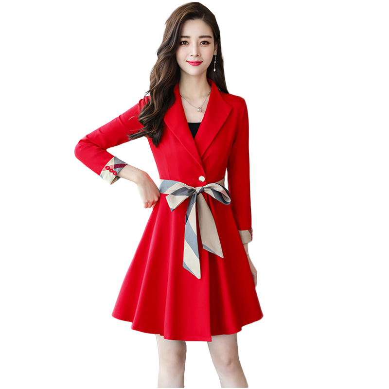 2019 nouvelle robe costume femmes élégantes Slim moulante pour bureau dames travail formel affaires porter de haute qualité marque de luxe robe Femme