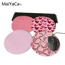 MaiYaCa Round Mouse Pad Low Price Good Quality Fashion Elements Best Choice Gifts For Romantic pink heart shape