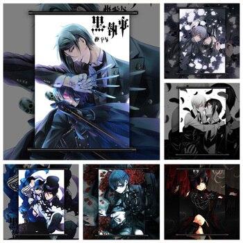 Black Butler Sebastian x Ciel Phantomhive Anime manga wall Poster Scroll D недорого
