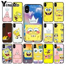 Yinuoda cute cartoon SpongeBob Queen Luxury Unique Design Phone Cover for iPhone 8 7 6 6S Plus X XS MAX 5 5S SE XR Mobile