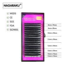 NAGARAKU 5 cases,Mix 8~15mm in one case,Ellipse Eyelashes,Ellipse Mink Eyelash Extension