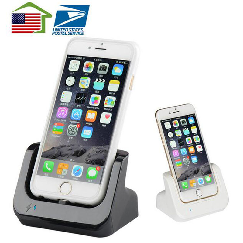 Us stocks USB Charger Dock Stand Station Cradle Charging Dock Station For Apple iPhone SE 5 5S 5C 6 6S Plus 7 Pro