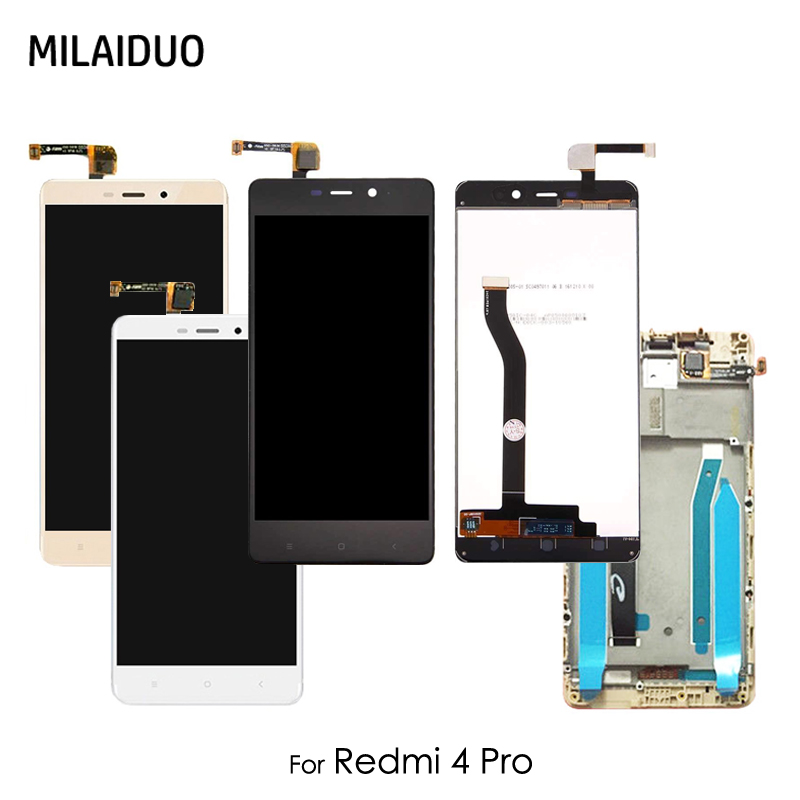 LCD Display For <font><b>Xiaomi</b></font> <font><b>Redmi</b></font> <font><b>4</b></font> <font><b>Pro</b></font> <font><b>Touch</b></font> <font><b>Screen</b></font> Digitizer LCD For <font><b>Redmi</b></font> <font><b>4</b></font> <font><b>Pro</b></font> Assembly Replacement With Frame Black White Gold image