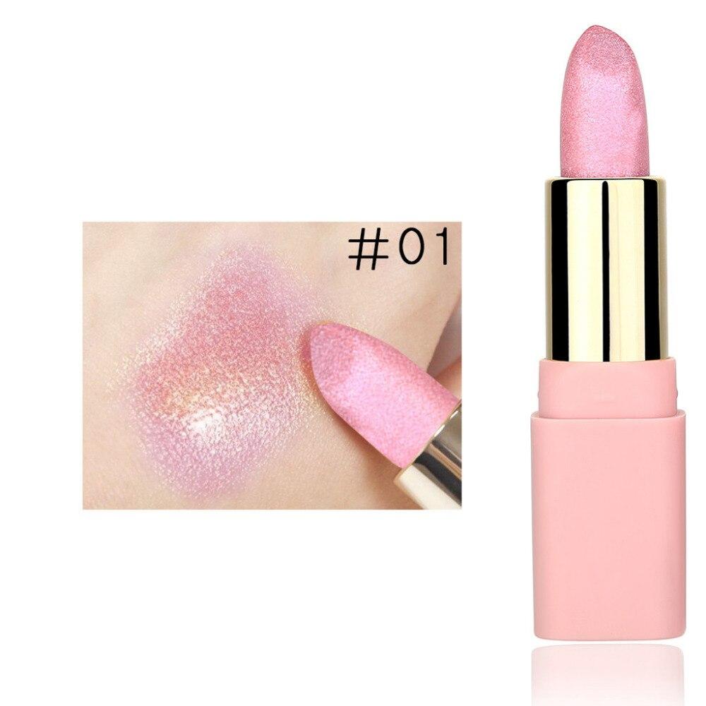 Fashion Lip Gloss Gold Cosmetics Women Sexy Lips Metallic Lip Gloss Waterproof Pearl Lipg loss Women Makeup Lipstick New 1.30