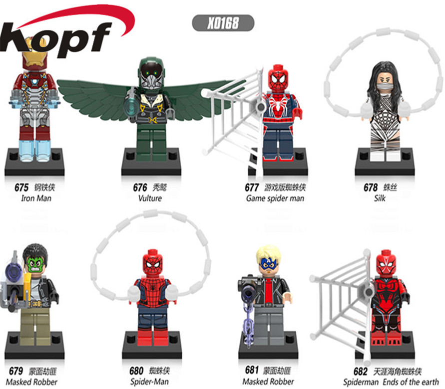 Vulture Game Spider Man Masked Robbot Spiderman Ends of the Earth Super Heroes Building Blocks Bricks Children Gift Toys X0168 игрушка развивающая little tikes морская звезда
