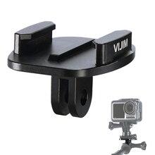 Vijim GP 2 alumínio gopro liberação rápida montagem clipe converter adaptador para gopro 8/7/6/5 dji osmo ação, câmera de ação acessórios