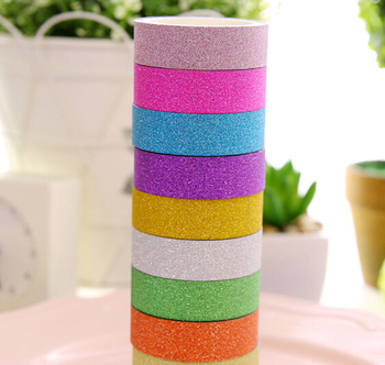 [4Y4A] Colors ColKawaii Glitter Matte Tape Book Decor Scrapbooking Card Adhesive Paper Sticker DIY Craft Adhesive Tape 1