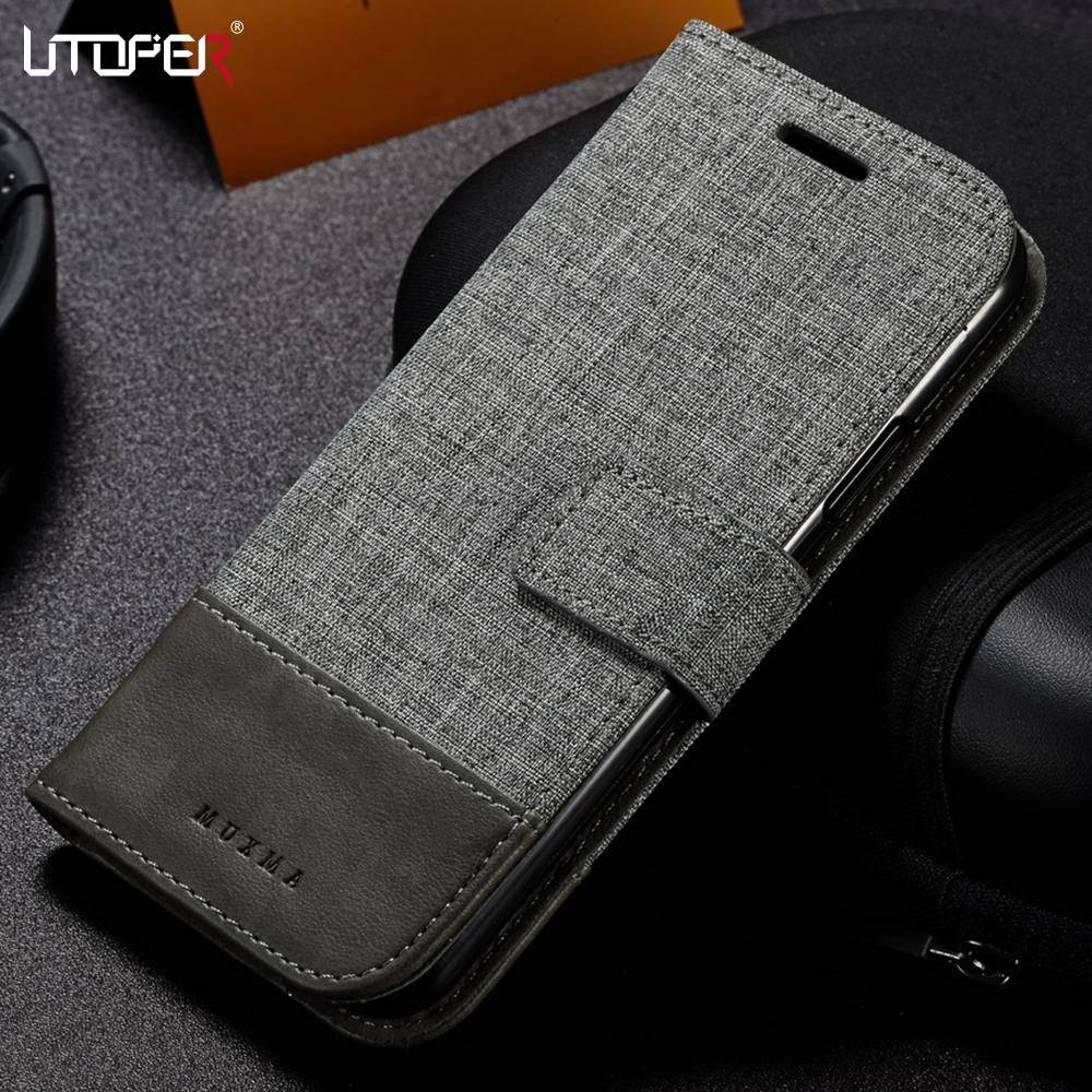 UTOPER Case For iPhone 7 7 Plus Case Flip Wallet PU Leather For iPhone 5 SE 6 6S 8 8 Plus X 10 Case Business British Style Funda