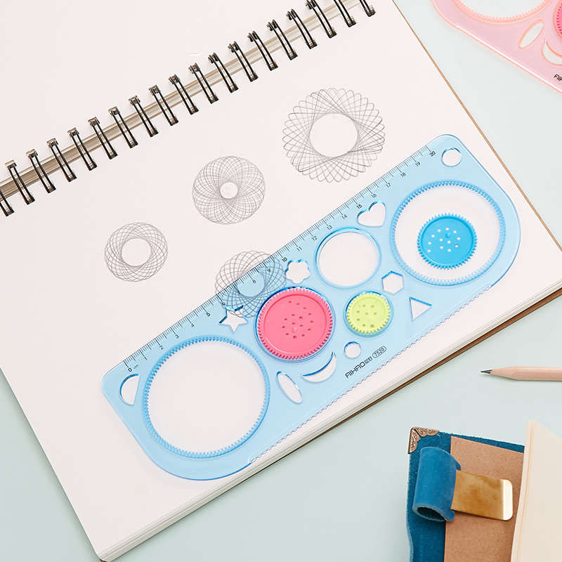 Environmental Clinker Variable Multi-functional Drawing Template Ruler Painting Puzzle Toy Multi-functional Kaleidoscope Set