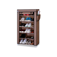 6 Tier Non woven Homestyle Shoe Cabinet Shoes Racks Storage Large Capacity Home Furniture Diy Simple