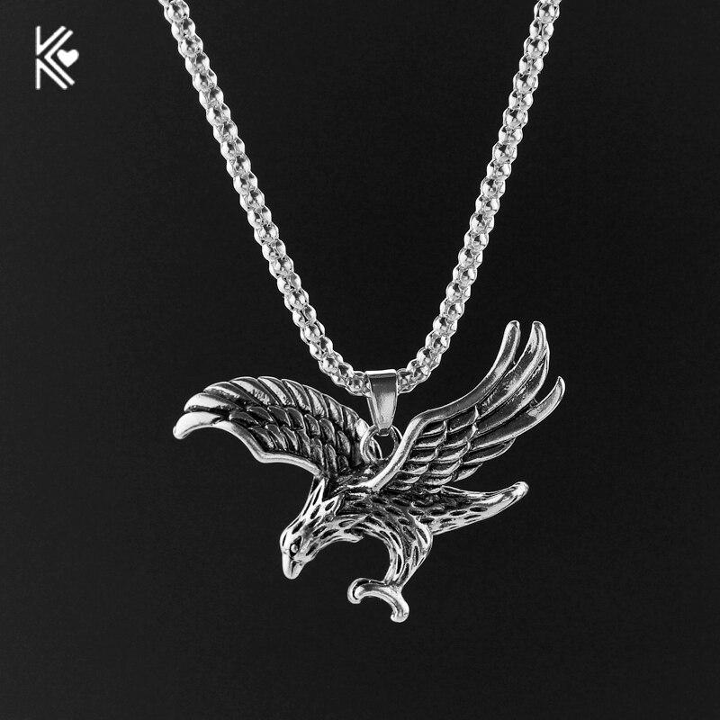 Eagle Pendant Necklace Biker Jewellery