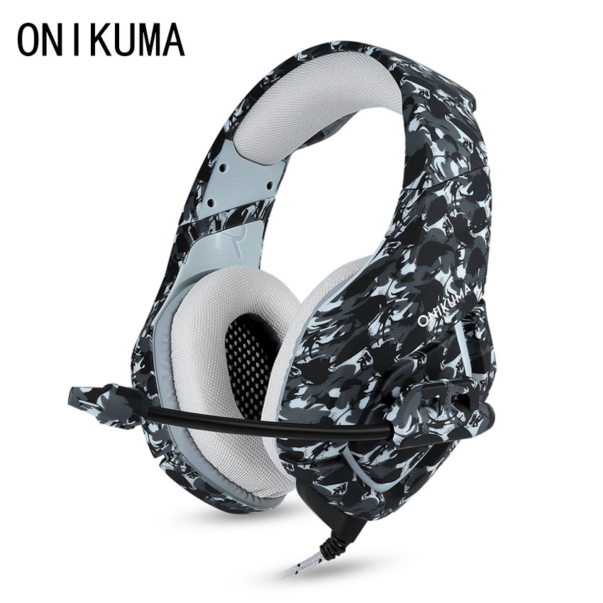 ONIKUMA K1 PS4 Gaming Headset mit Mikrofon Casque Camouflage Noise cancelling-kopfhörer für PC Handy Xbox One Laptop